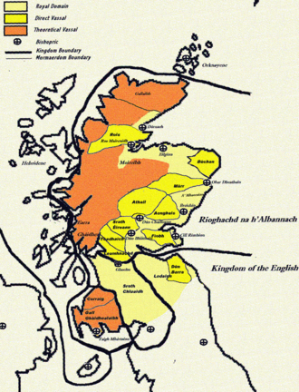Mormaer - This map pertains to the Scotland of the reign of Alexander II. The map is a rough guide only, and not intended to be 100% accurate.