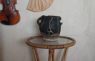 Kintsugi - Rural cooking pot repaired with Kintsugi technique, Georgia, 19th century.