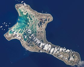 Image satellite de l'île Christmas.