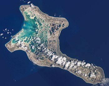 Nearly half the area of Kiritimati is covered with lagoon, some being freshwater and some seawater.