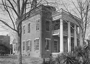 Cahaba River - The Kirkpatrick Mansion at Cahaba:  One of the last houses remaining in the town when this photograph was taken in 1934, it was destroyed by fire the following year.