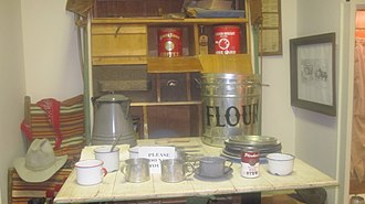 Childress County Heritage Museum - Kitchen exhibit at Childress County Heritage Museum