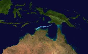 1971–72 Australian region cyclone season - Image: Kitty 1971 track
