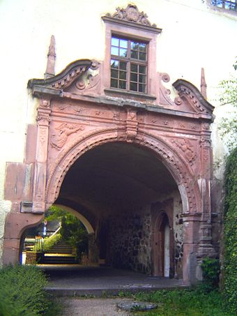Abbey portal on the abbey building