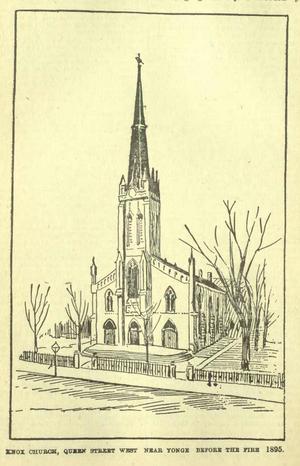 Knox Presbyterian Church (Toronto) - Image: Knox Presbyterian, Original, Toronto