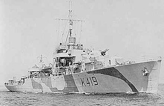 HMCS <i>Kokanee</i> River-class frigate of the Royal Canadian Navy