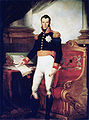 Koning Willem I - staand met de grondwet van 1815.jpg