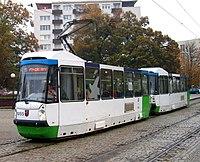 Konstal 105N2k2000 1055+1056, tram line 11, Szczecin, 2013.jpg
