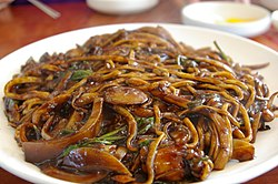 Korean black bean noodle dish-Jaengban Jajangmyeon-01.jpg