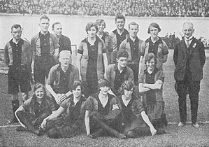 Korfball at the 1928 Summer Olympics - Image: Korfbal 1928 rood zwart