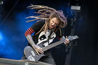 Brian Welch - Head playing with Korn at Rock Im Park 2016