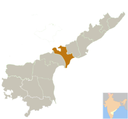 Location in Andhra Pradesh, India (officially from 2nd June 2014)