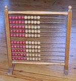 School abacus used in Danish elementary school. Early 20th century.