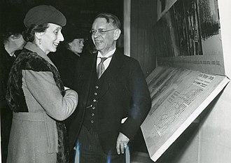 Hans Wilhelmsson Ahlmann - Hans Wilhelmsson Ahlmann with Princess Ingeborg of Sweden