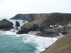 Kynance Cove, 2006. Thom Alsop assures you that the photo belongs to the uploader