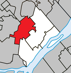 L'Épiphanie, Quebec (town) - Image: L'Épiphanie (city) Quebec location diagram