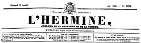 Image illustrative de l'article L'Hermine (journal)