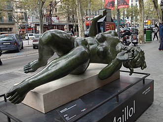 Aristide Maillol - Maillol, The River, bronze, 1938-1943, (displayed in Barcelona) in 2009