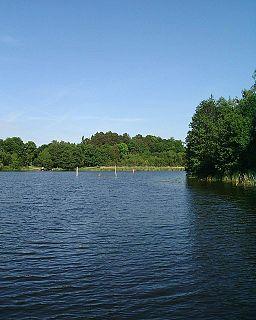Laduviken lake in Stockholm Municipality, Sweden