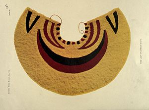 Jane Franklin - Lady Franklin's ʻahuʻula, a Hawaiian feather cape presented to her by King Kamehameha IV during her visit in 1861, Bishop Museum.