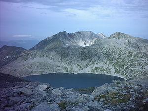 Province of Brescia - The small Lago della Vacca at an elevation of 2,358 m.