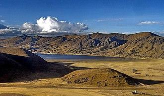 Suni (geography) - Chacas lagoon, Puno, Peru