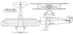 Laird LC-DW 300 Solution 3-view Aero Digest October,1930.png