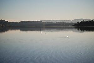 Lake Mendocino - Lake Mendocino from its northern shore