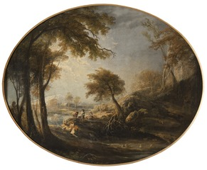 Landscape with Rustics and Cattle