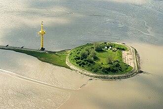 Langlütjen - Aerial view of Langlütjen I (2012)