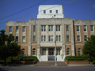 Lauderdale County, Mississippi - Image: Lauderdale County Courthouse Meridian, MS