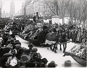 1919 in Canada - Funéraille de Wilfrid Laurier