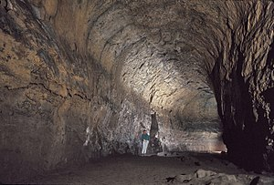 Lava River Cave - High arched ceiling in Lava River Cave