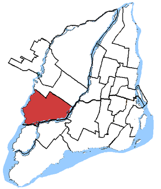 Laval—Les Îles - Laval—Les Îles in relation to other federal electoral districts in Montreal