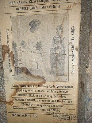 Arthur Hornbui Bell - Image: Leah Bell handbill