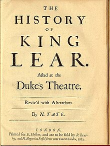 What is the overall message conveyed by the play King Lear?