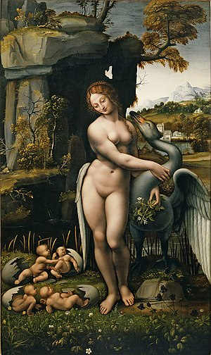 Leda and the Swan (Leonardo) - Image: Leda Melzi Uffizi