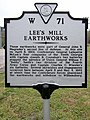 Lee's Mill Earthworks (Historical Marker W 71) (3446747886).jpg