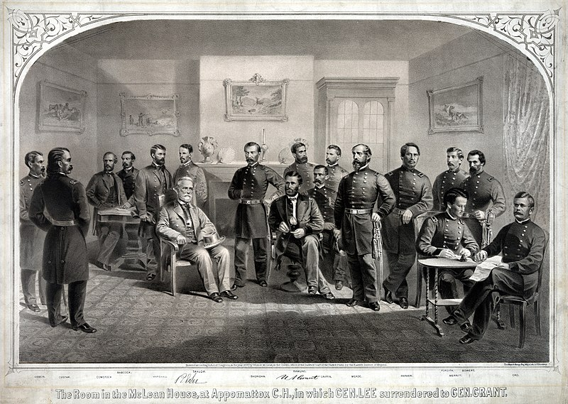 File:Lee Surrenders to Grant at Appomattox.jpg