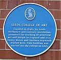 Leeds College of Art blue plaque.jpg