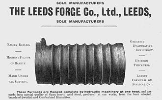 Samson Fox - Corrugated boiler flue.