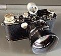 Leica III 1933 with Voigtlander Nokton asph 50mm 1.5 and Leitz bright line finder (13923079483).jpg