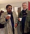 Les chanteurs Gilles Dreu et Bichou en Décembre 2017 lors du Téléthon.jpg