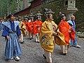 Les musiciens dans la procession Hyakumono-Zoroe Sennin Gyoretsu (Shunki reitaisai, Nikko) (29286207548).jpg