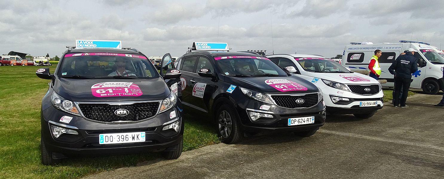 Reportage réalisé le samedi 9 mai 2015 à l'occasion du départ de la quatrième étape des Quatre jours de Dunkerque 2015 à Lestrem, Nord, Nord-Pas-de-Calais, France.