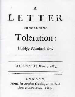 <i>A Letter Concerning Toleration</i> book by John Locke