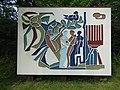 Leusden - Muurreliëf van het voormalig Sinaï complex complex gemaakt door Lex Horn in Kamp Amersfoort.jpg