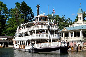 Mark Twain Riverboat - The Liberty Belle at the Magic Kingdom in Walt Disney World