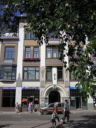 Liepāja - Art Nouveau architecture in Liepāja.