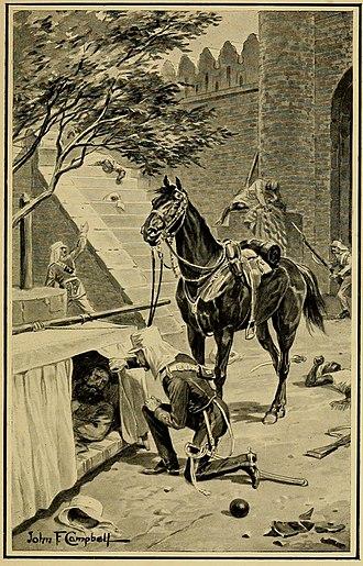 John Nicholson (East India Company officer) - Lieutenant Roberts finding General Nicholson
